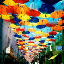 Floating Umbrellas at Agitagueda Art Festival