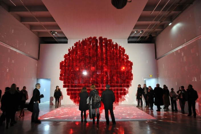Art-Basel-2014- Stars-You-Must- See-this-Week-Sphere Rouge-by-Julio-Le-Parc