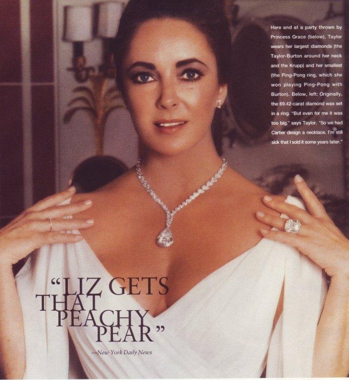 Gracie Jewellery Elizabeth Taylor Richard Burton Taylor-Burton Diamond