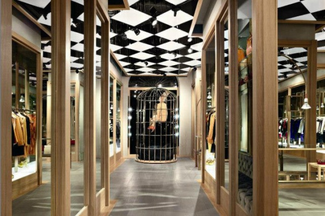 Amazing Retail Space Design Projects 2014  Amazing Retail Space Design Projects 2014 Amazing Retail Space Design Projects 2014 Moschino boutique by Michele De Lucchi Milan Italy