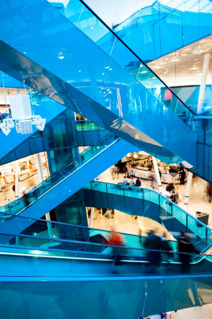 Best commercial design projects: shopping centre in Sweden won World Architecture Festival INSIDE Award  Euphoria: a swedish project that will blow you away Best commercial design projects shopping centre Emporia Malmo Wingardh Architects interior
