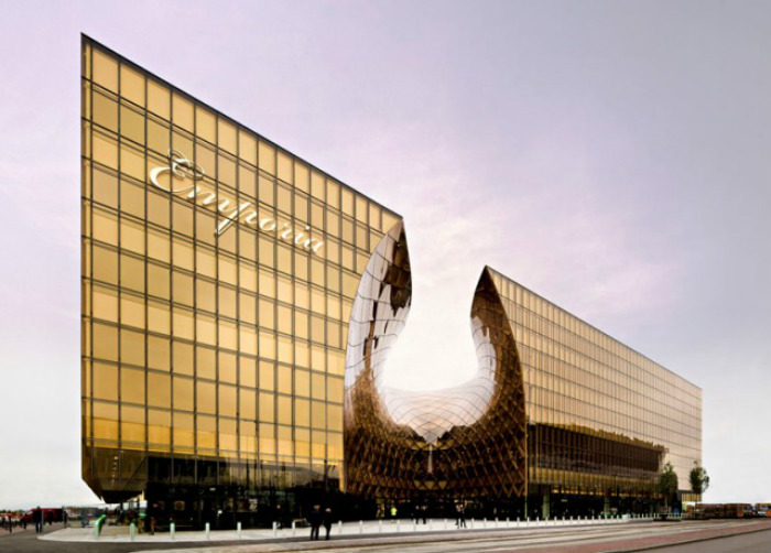 Best commercial design projects: shopping centre in Sweden won World Architecture Festival INSIDE Award  Euphoria: a swedish project that will blow you away Best commercial design projects shopping centre in Sweden exterior1