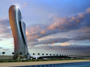 TOP 10 OF THE WILDEST HOTELS FROM AROUND THE WORLD  TOP 10 OF THE WILDEST HOTELS FROM AROUND THE WORLD Top 10 of the Wildest Hotels from Around the World Hyatt Capital Gate Tower 300x225
