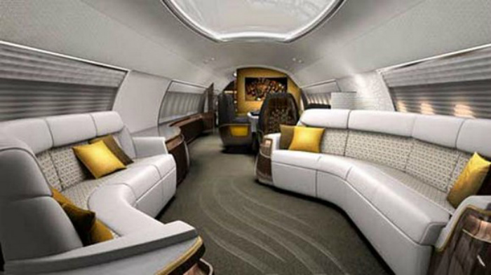 EXTREME LUXURY: INSIDE PRIVATE JETS INTERIORS  The most amazing private jets interiors in the world luxurious interior design of a private jet 1